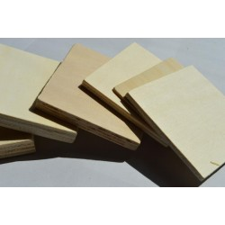 Poplar Plywood - ideal for laser cutting. New thicknesses now available