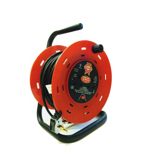 Cable Reel 2 socket & 25m